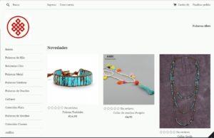 Web de Pulseras Tibet realizada por Satmansur